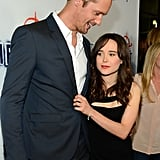 Alexander Skarsgard chatted with Ellen Page at the premiere.