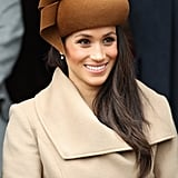 Meghan Markle's Straight Hair and Hat on Christmas Day 2017