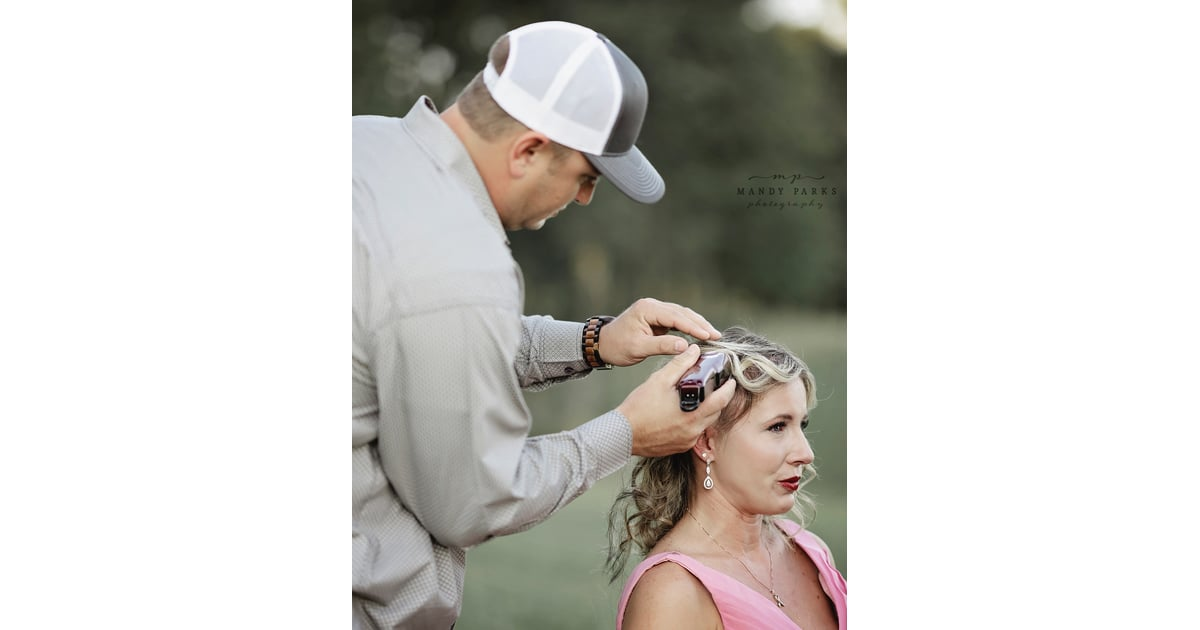 Husband Shaves Wifes Hair In Breast Cancer Photoshoot -1769