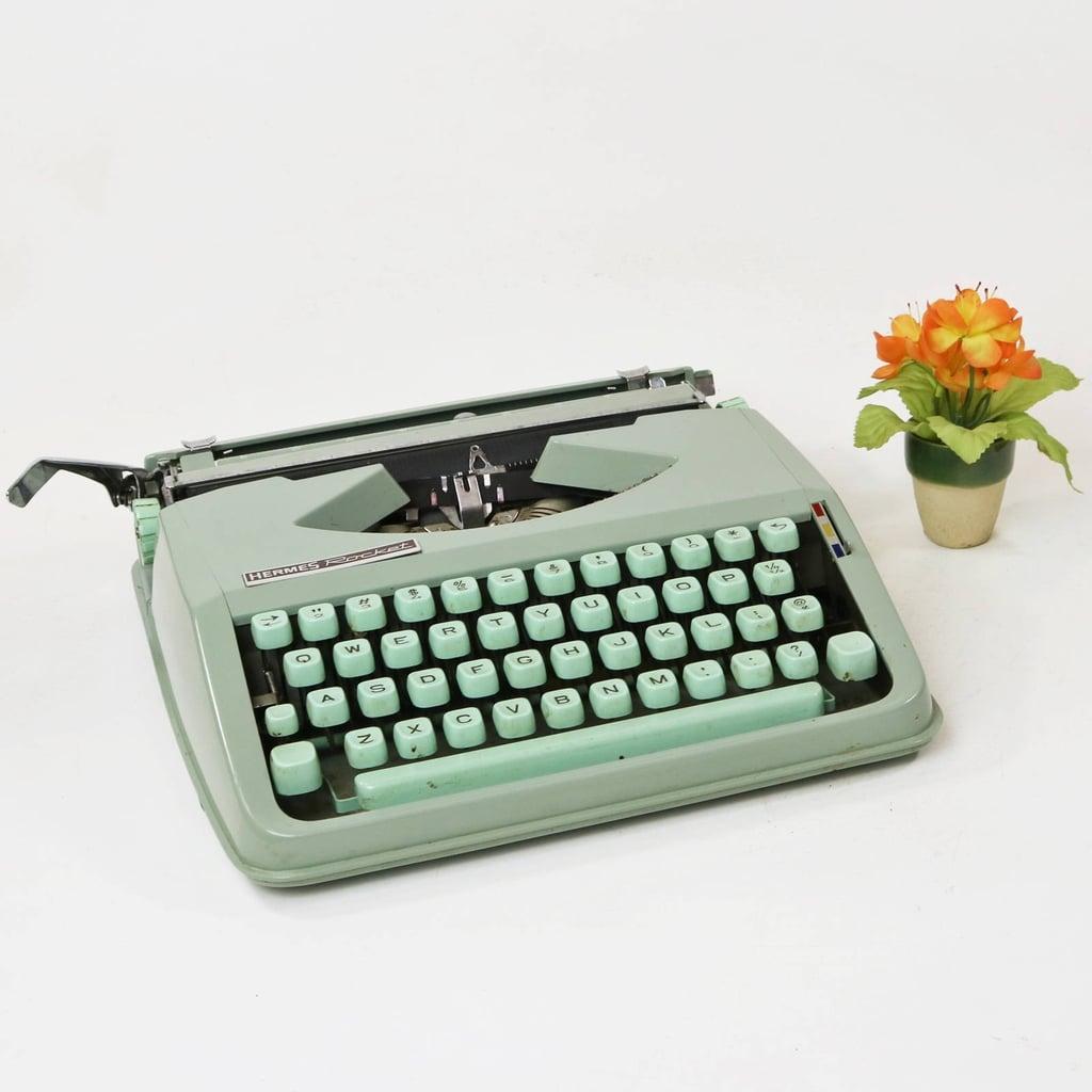 Vintage Hermes Baby Rocket Portable Typewriter