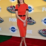 Hilary Swank walked the red carpet at Fox's Cause for Paws event in LA on Saturday.