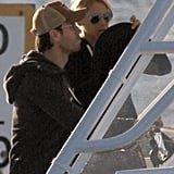 Enrique Iglesias and Anna Kournikova both wore sunglasses as they boated around Miami Beach.