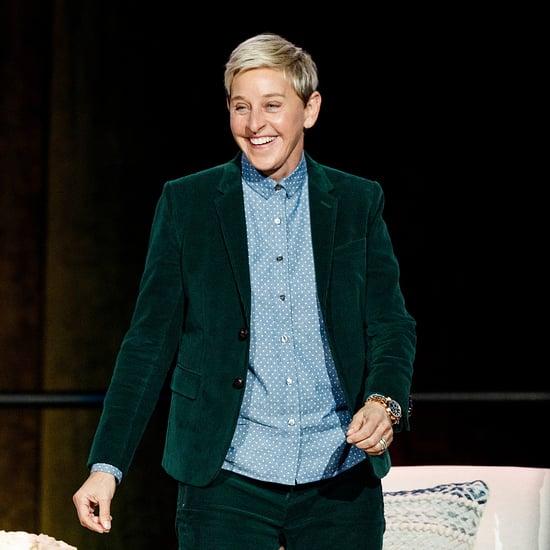 Ellen DeGeneres Doing an Ab Workout Before Her Show