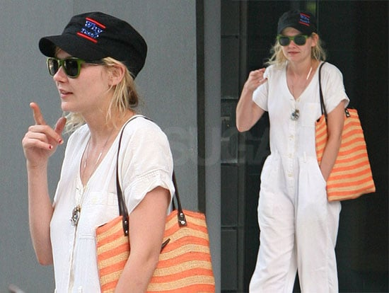 Photos of Kirsten Dunst Waiting For a Car in NYC