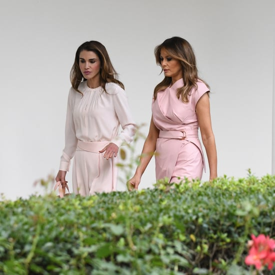 Melania Trump's Pink Wrap Dress