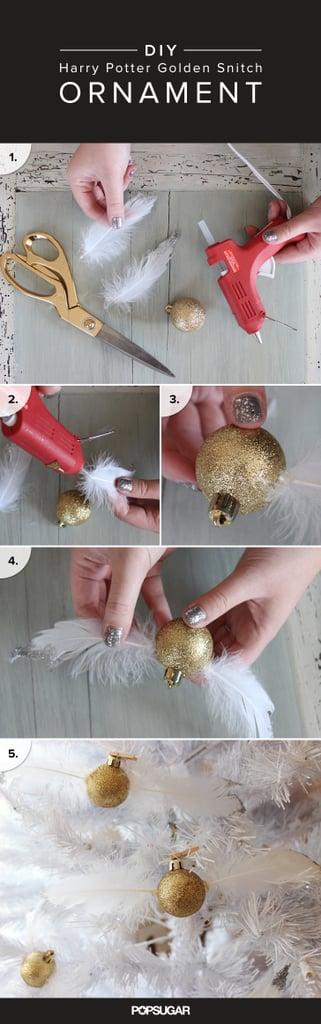 Golden Snitch Christmas Ornament DIY