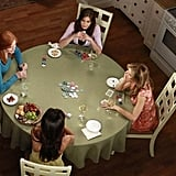 Teri Hatcher as Susan, Marcia Cross as Bree, Felicity Huffman as Lynette, and Eva Longoria as Gaby on Desperate Housewives. Photo courtesy of ABC