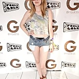 Emma Roberts showed off her California-girl style at the G by Guess party at the OASIS Beach Club.