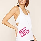Forever 21 Active Rest Later Graphic Tank