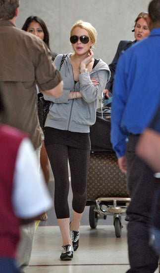 Lindsay and her pout at LAX
