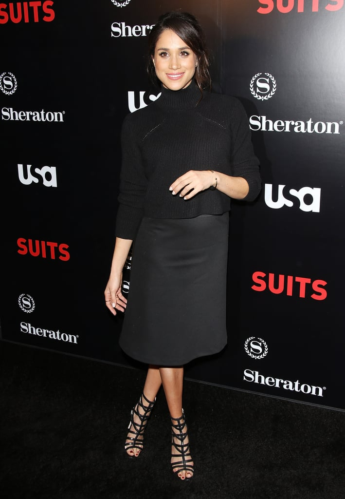 Photographic evidence that an all-black ensemble can look chic and red carpet ready.