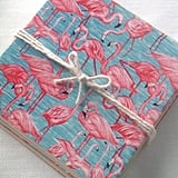 Ceramic Tile Coasters - Flamingo Retro Style  ($20)