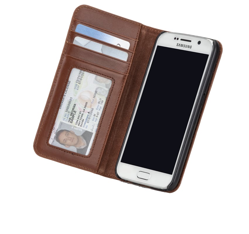 Brown Leather Wallet Folio Case ($60)