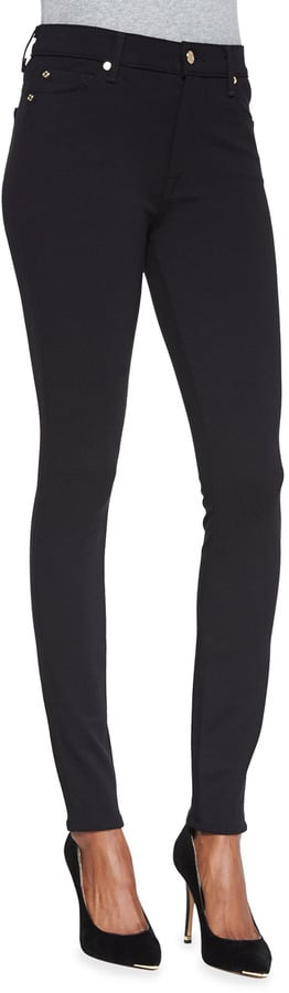 7 For All Mankind High-Waist Doubleknit Skinny Jeans ($168)