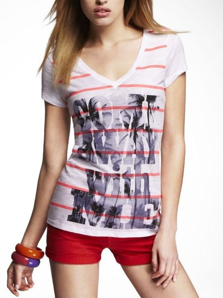 Express Striped Graphic Tee ($30)