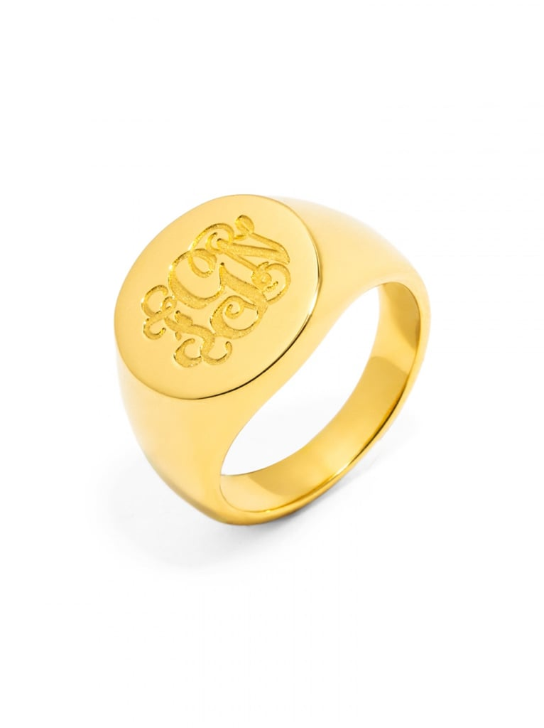 This personalized signet ring from BaubleBar ($52) is bound to become a classic she never takes off.