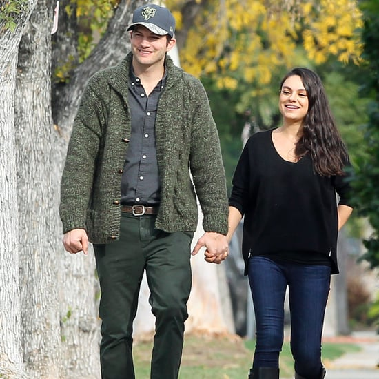 Mila Kunis and Ashton Kutcher Walking in LA December 2016