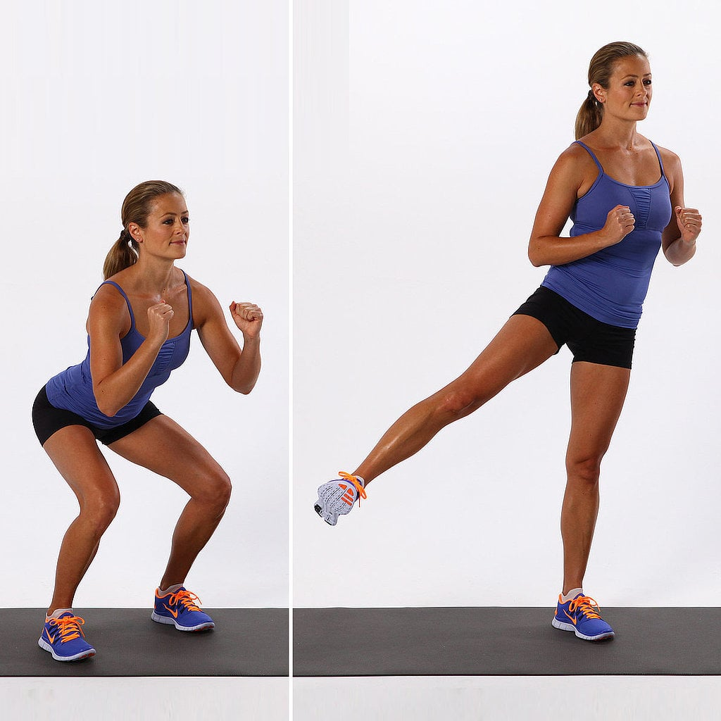 Basic Squat With Side-Leg Lift