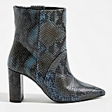 Chio Snake-Printed Ankle Boots