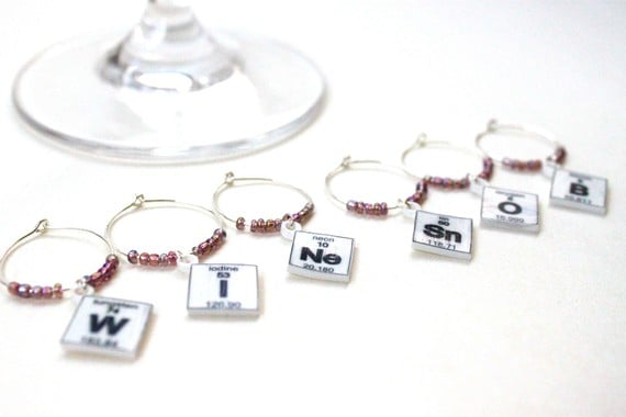 Periodic table wine charms 12 geek kitchen popsugar tech photo 1 periodic table wine charms 12 urtaz Images