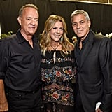 Tom Hanks, Rita Wilson, and George Clooney