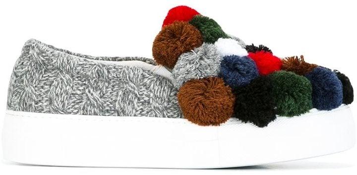 Joshua Sanders Pom-Pom Slip-On Sneakers