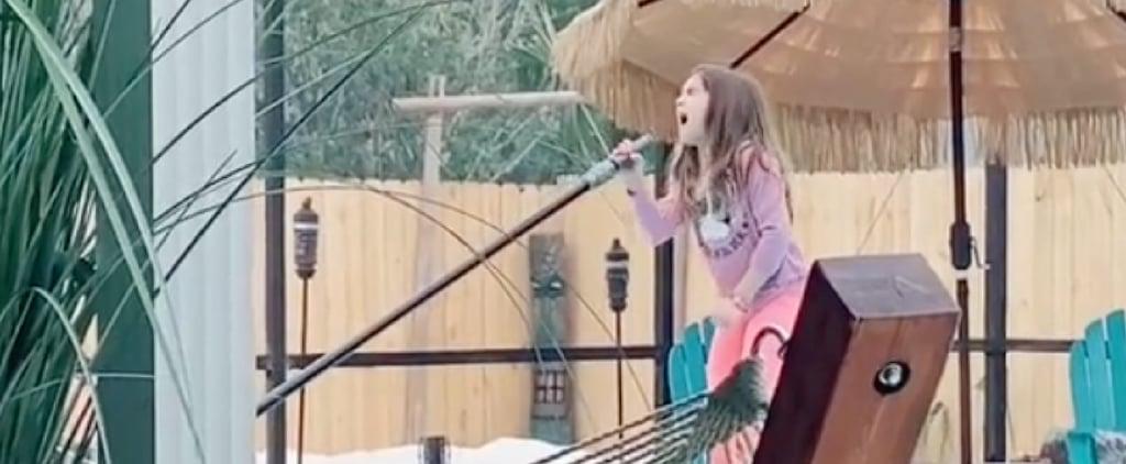 Girl Sings Alicia Keys Song Doing Chores | TikTok Video