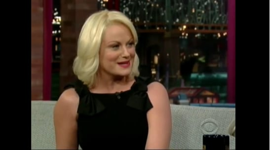 Amy Poehler Discusses Kids on David Letterman