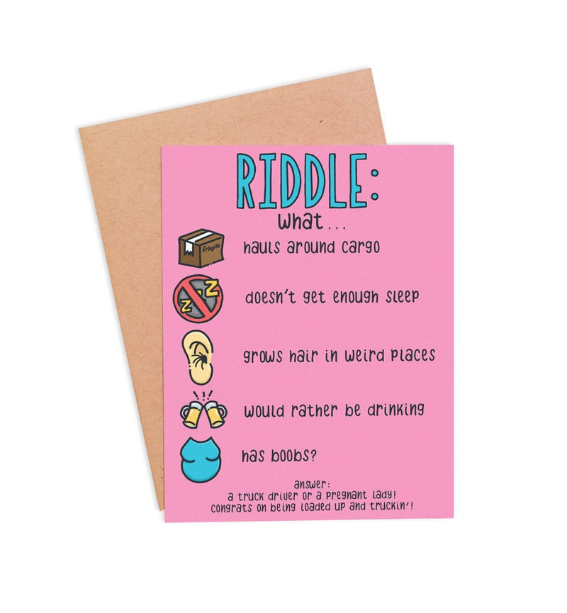 New Mom Riddle Card