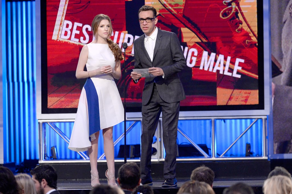 Anna Kendrick presented an award with Fred Armisen.