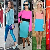 Get some colorblock inspiration from these very stylish celebrities.