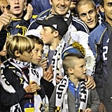 David Beckham's boys helped ring in the victory for LA Galaxy.