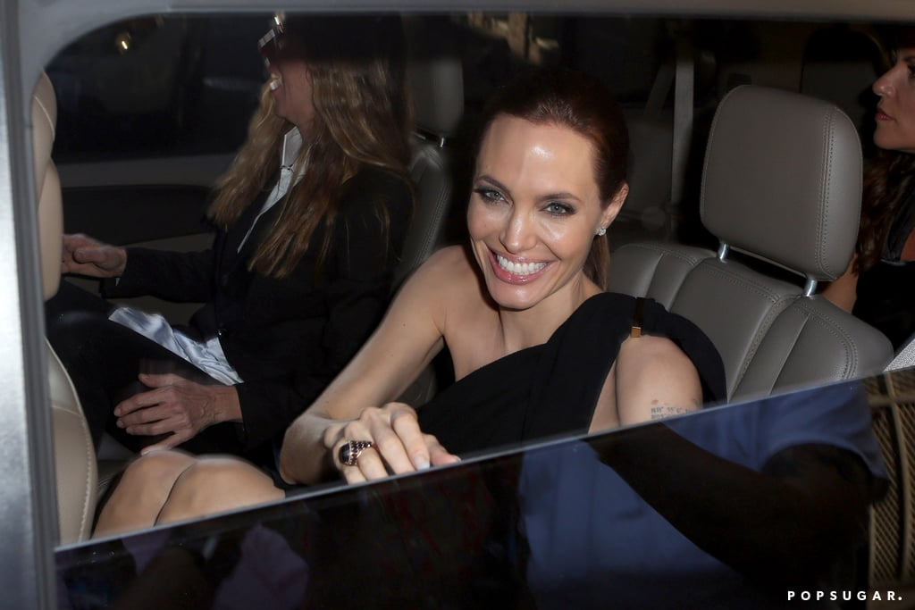 Angelina Jolie at Brad Pitt's Make It Right Gala 2014