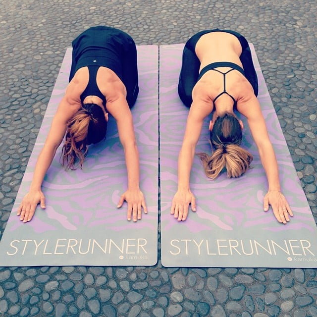Yoga, anyone? Source: Instagram user basebodybabes