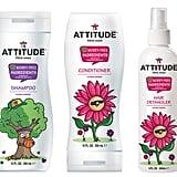 Attitude Little Ones Shampoo, Conditioner, and Hair Detangler ($10 each)