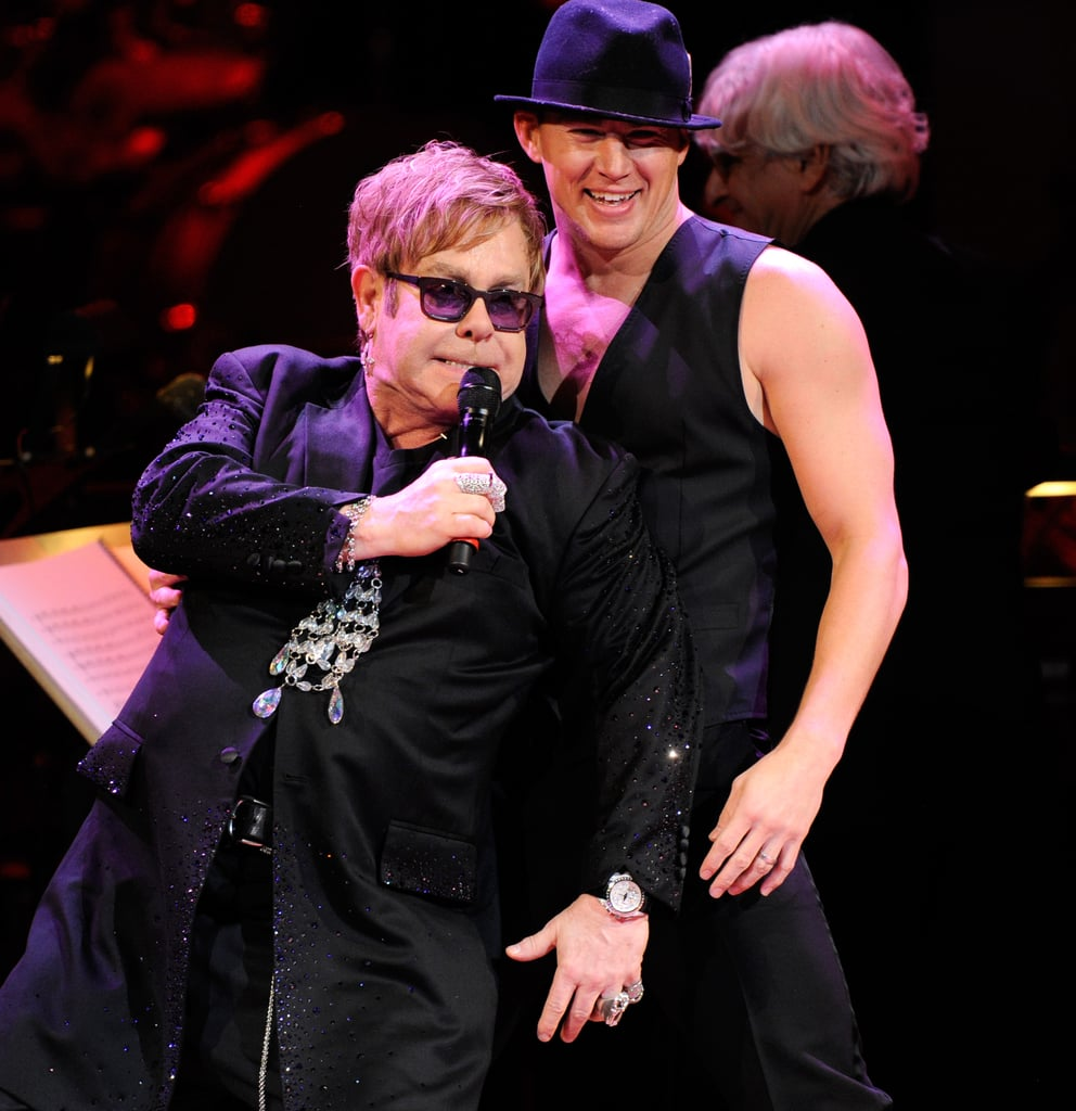 Channing Tatum had some fun with Elton John at the Revlon Concert for the Rainforest Fund at Carnegie Hall in NYC.