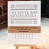 Letterpress Desk Calendar With Folk-Art-Themed Illustrations ($29)