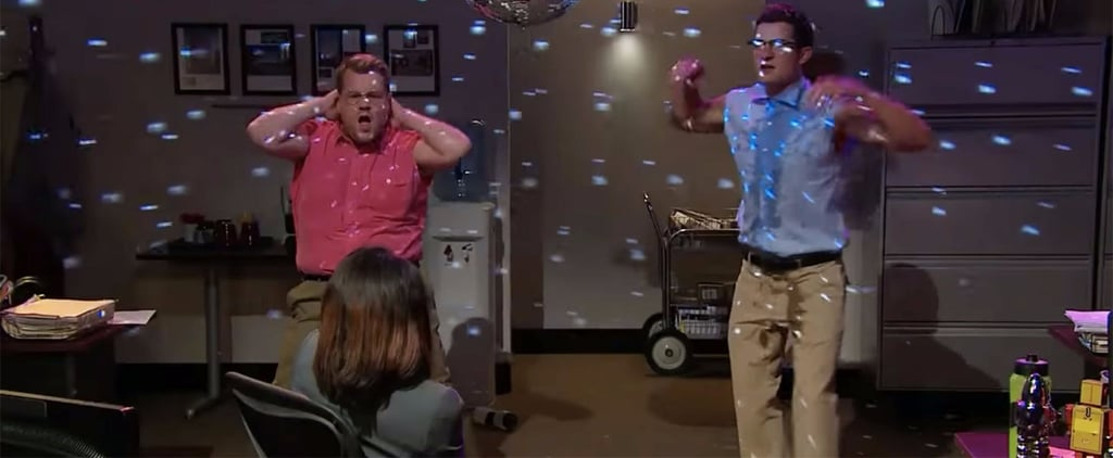 James Corden and Orlando Bloom's Office Skit Will Remind You of SNL's Chippendales