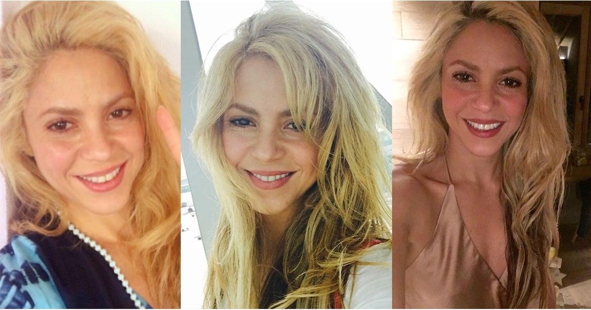 Shakiras Sexiest Selfies Popsugar Beauty