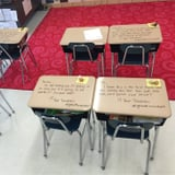 Why This Teacher Wrote All Over Her Students' Desks on the Day of an Exam