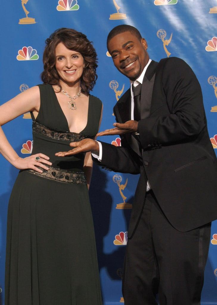 Tina Fey and Tracy Morgan at the 2006 Emmy Awards