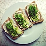 "Avocado and ""Goat Cheese"" Sandwich"