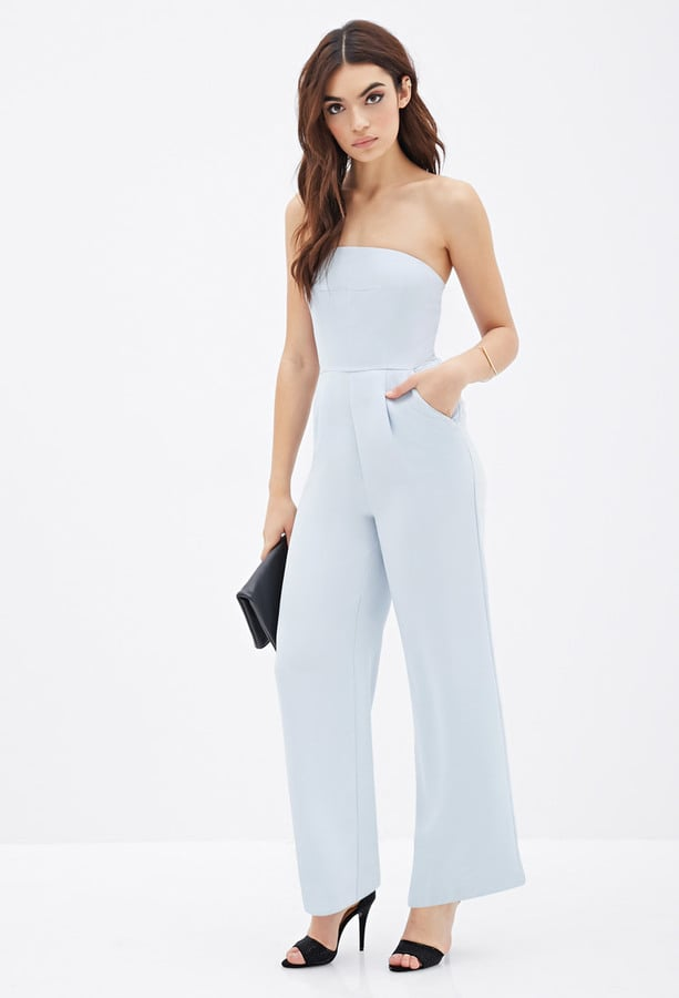 Forever 21 Strapless Wide Leg Jumpsuit Best Jumpsuits To Wear To