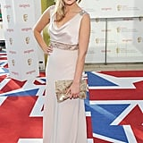 Cheska Hull went for a draped Anoushka G at House of Fraser dress.