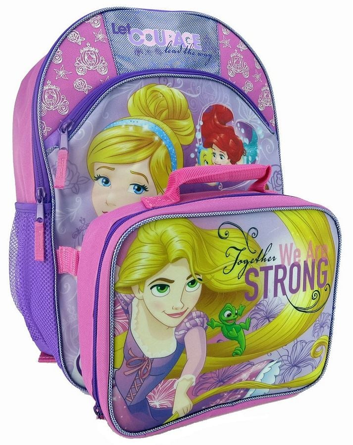 f29bfd12857 Disney Princess Kids Courage Backpack   Lunch Bag Set