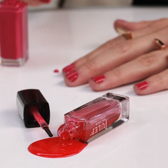 Don't cry over spilled polish. Instead, watch this tutorial on how to clean up your mess before it sets. It's one of our top pins on Pinterest . . . ever.