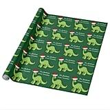Christmas Kids Dinosaur Custom Wrapping Paper