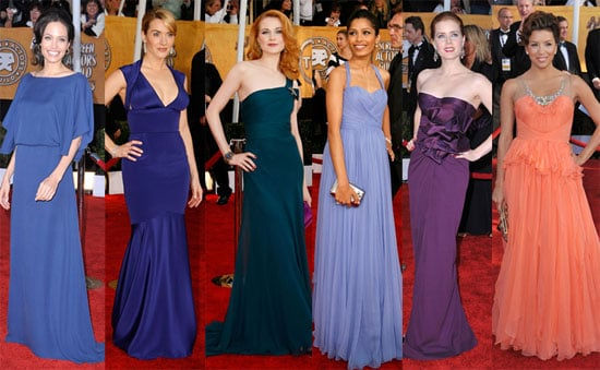 Photos of Angelina Jolie, Anne Hathaway, Kate Winslet and 2009 Screen Actors Guild Award Fashion