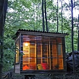 This tiny dwelling, built by Relax Shacks, is perfect for a temporary getaway or full-time minimalist living. It's currently being used as a study nook by a university professor; doesn't that make you want to cozy up in this miniature home with a good book? Source: Relax Shacks