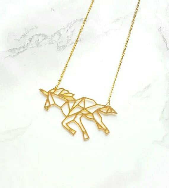 Origami Unicorn Necklace ($13)
